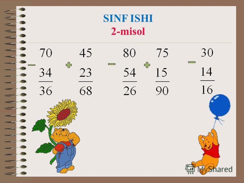 SINF ISHI 2-misol