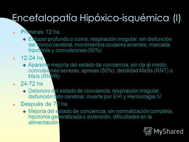 n Gasimetría y pH n Ionograma con Ca, Mg, Na y K n Glicemia n Enzimas cardíacas n PL n EEG n Eco transfontanelar n TAC n Potenciales evocados n RMN-TEP n Reticulocitos n RxTx n EKG n Función Renal (Úrea, Cr) n Osmolaridad sérica y urinaria n Ecografí