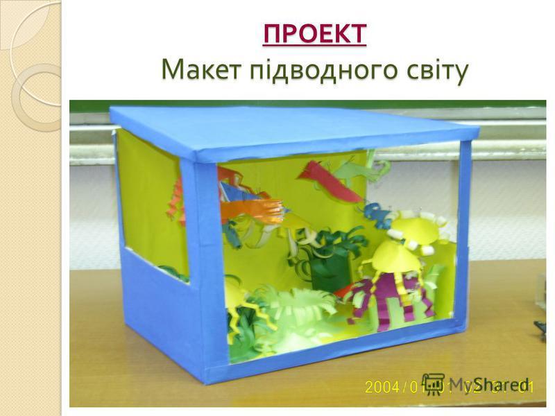 ПРОЕКТ Макет підводного світу