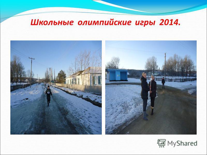 Школьные олимпийские игры 2014.