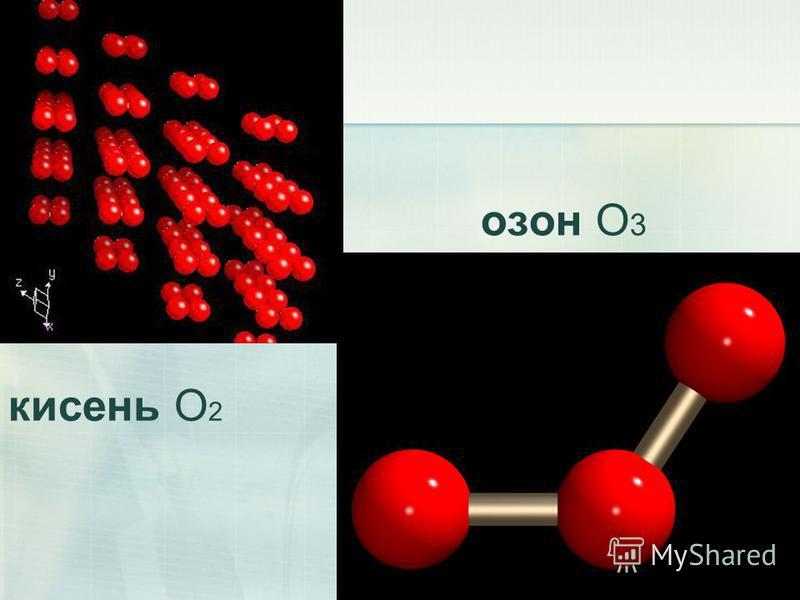 озон O 3 кисень O 2
