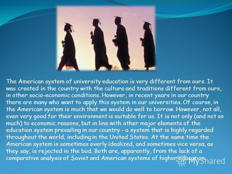 the differences of education systems in the us and in the authors country The vietnamese education system is trying to overcome outdated curriculums and teacher-centered lessons although there is still plenty of work to do, the standards have improved over the years education in vietnam is the responsibility of the ministry of education and training (moet.