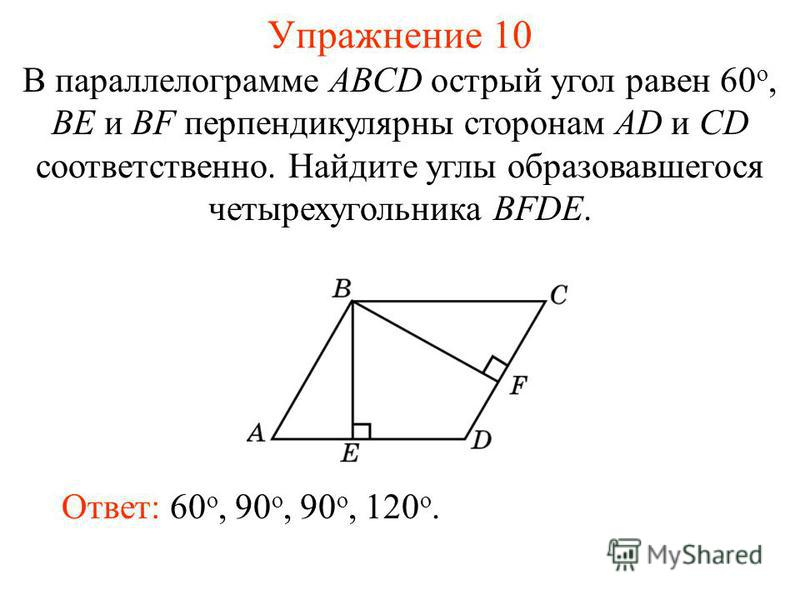 в параллелограмме острый угол которого равен 30 биссектриса способы