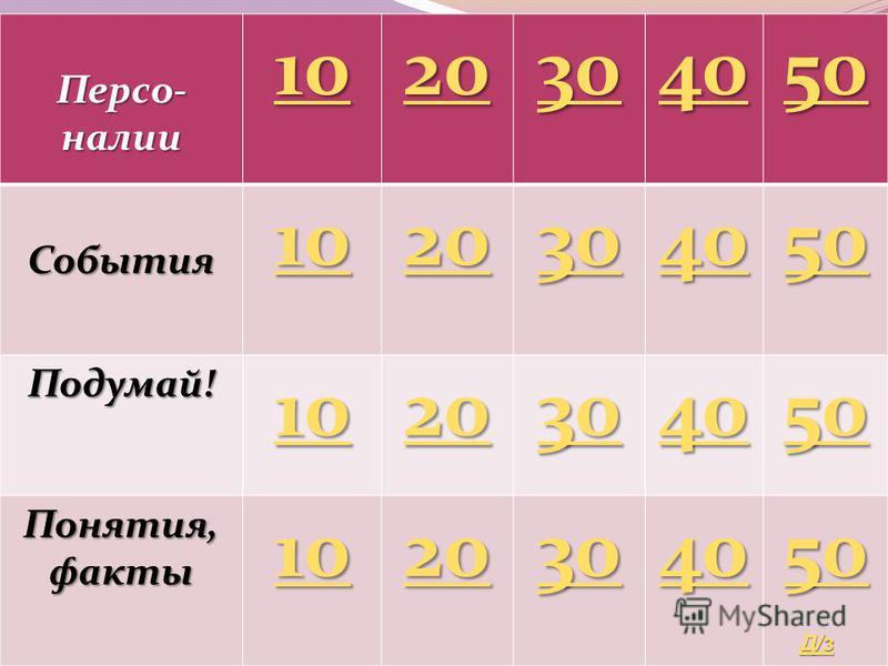 11 класс. Своя игра. Автор Пекишева А.В