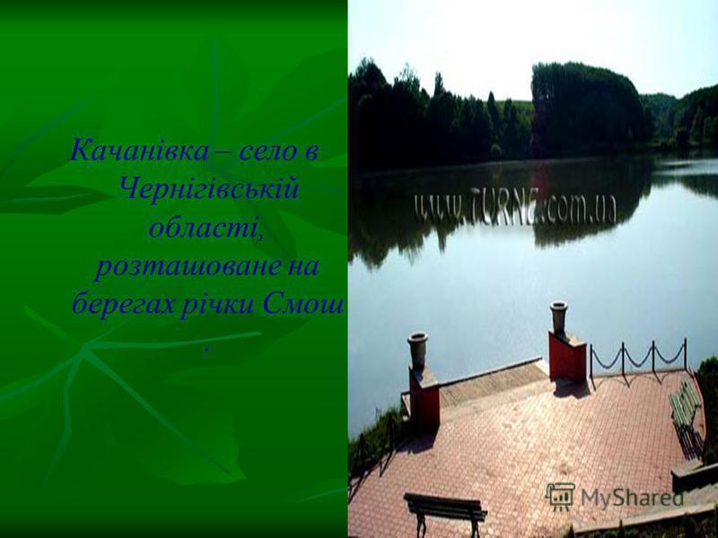 Качанівка – село в Чернігівській області, розташоване на берегах річки Смош.