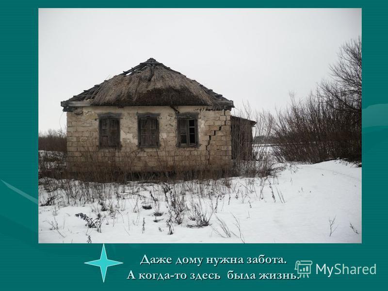 Даже дому нужна забота. А когда-то здесь была жизнь.