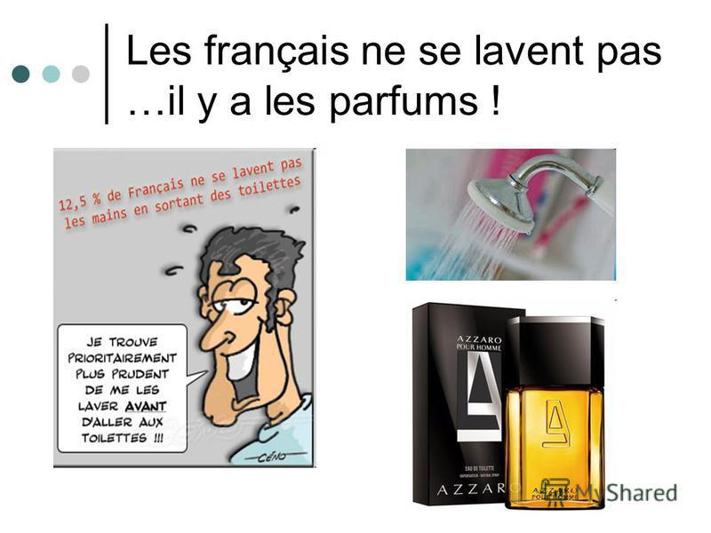 Les français ne se lavent pas …il y a les parfums !