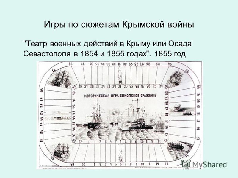 Игры по сюжетам Крымской войны Театр военных действий в Крыму или Осада Севастополя в 1854 и 1855 годах. 1855 год