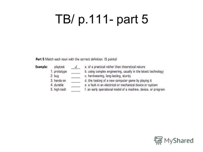 TB/ p.111- part 5
