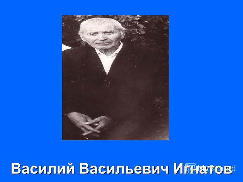 Василий Васильевич Игнатов