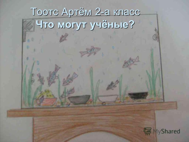 Тоотс Артём 2-а класс Что могут учёные?