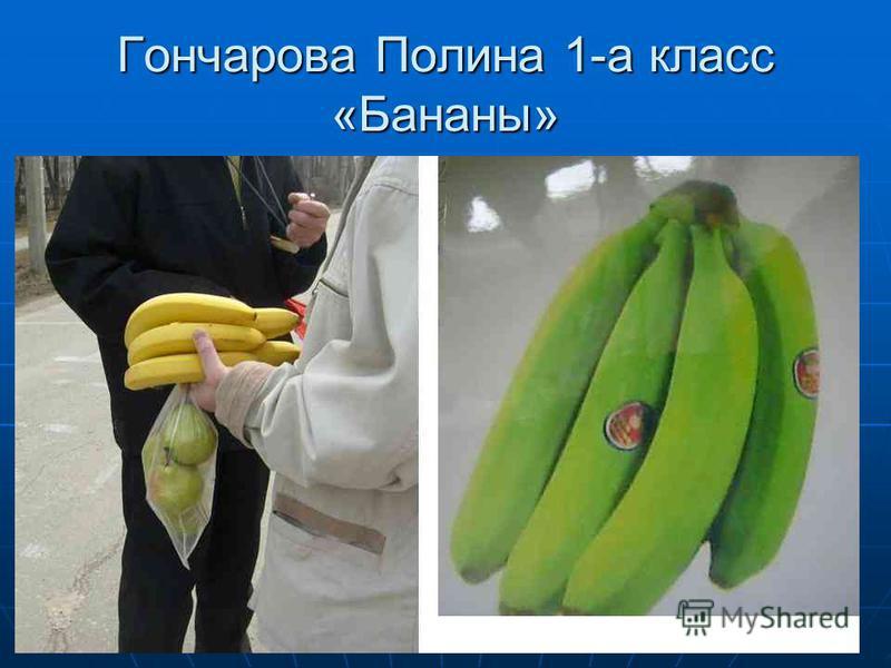 Гончарова Полина 1-а класс «Бананы»
