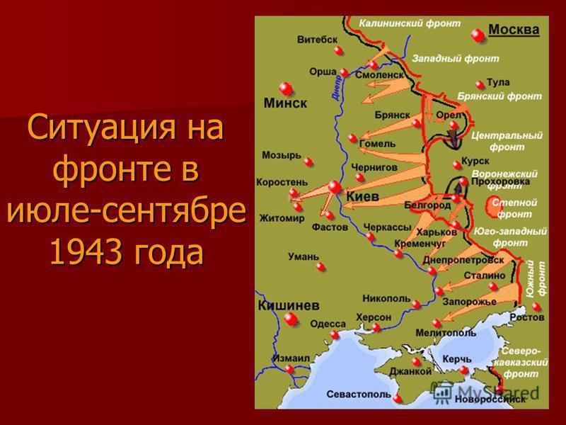 Ситуация на фронте в июле-сентябре 1943 года
