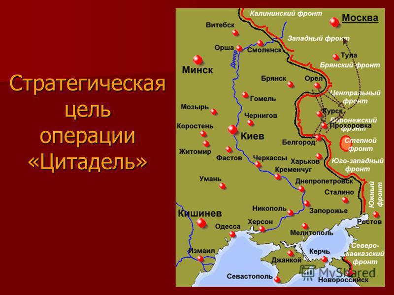 Стратегическая цель операции «Цитадель»
