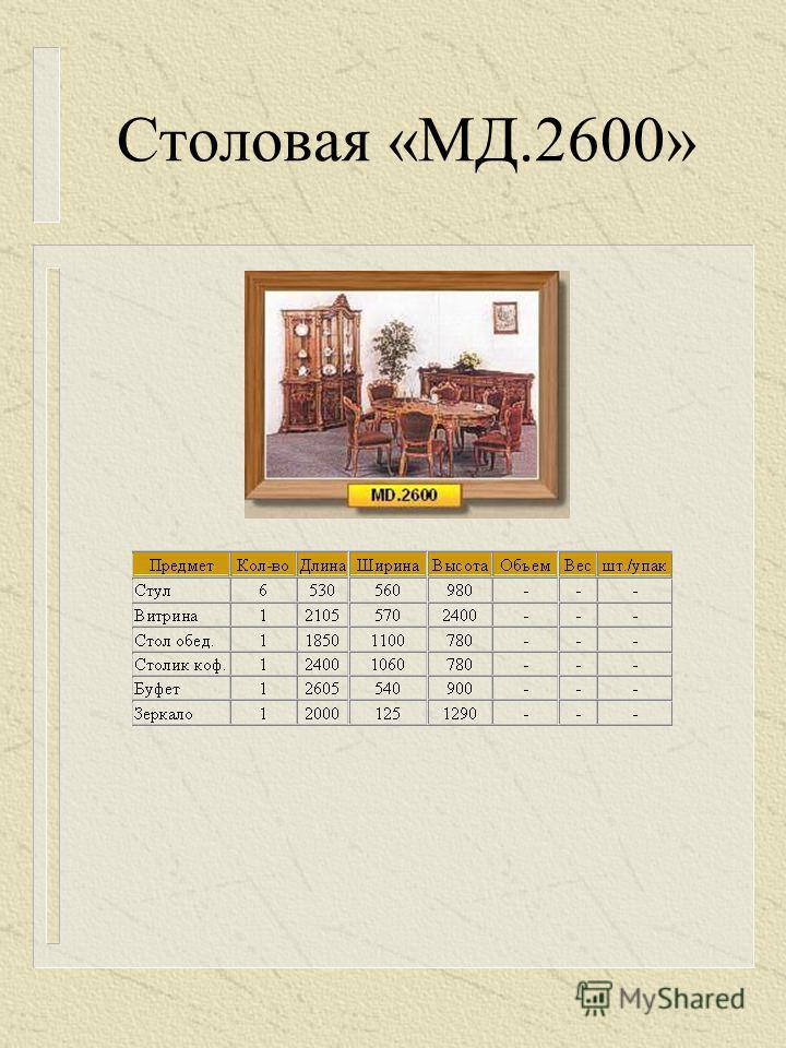 Столовая «МД.2600»