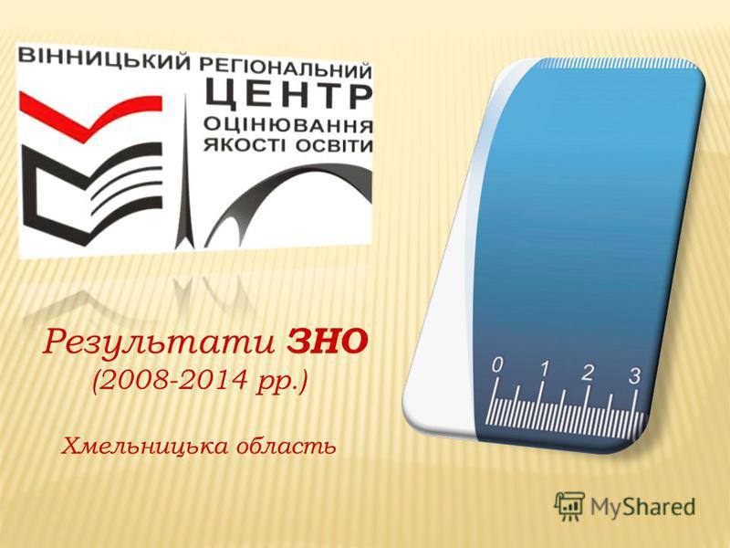 Результати ЗНО (2008-2014 рр.) Хмельницька область