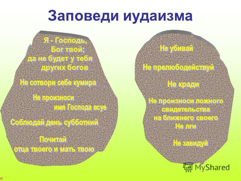 Ж а г р о в а С в е т л а н а Н и к о л а е в н а, М О У С О Ш 2 п. Е к а т е р и н о в к а С а р а т о в с к о й о б л а с т и ; E - m a i l : s e 3 9 7 @ y a n d e x. r u Заповеди иудаизма