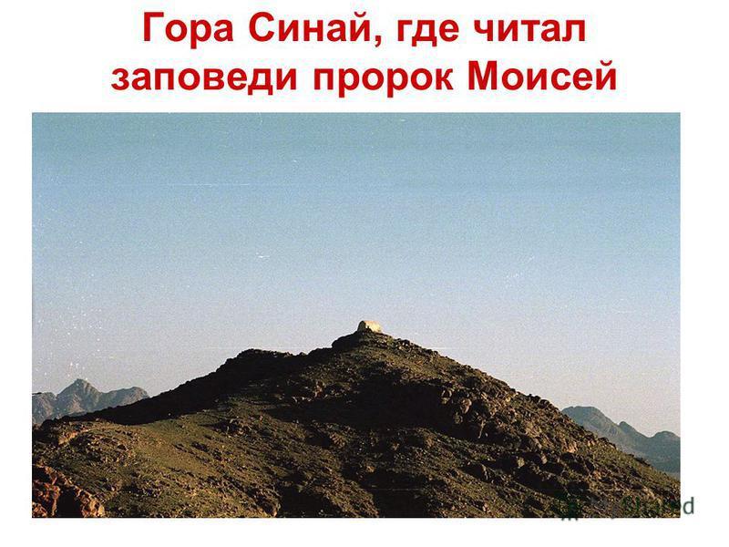 Гора Синай, где читал заповеди пророк Моисей