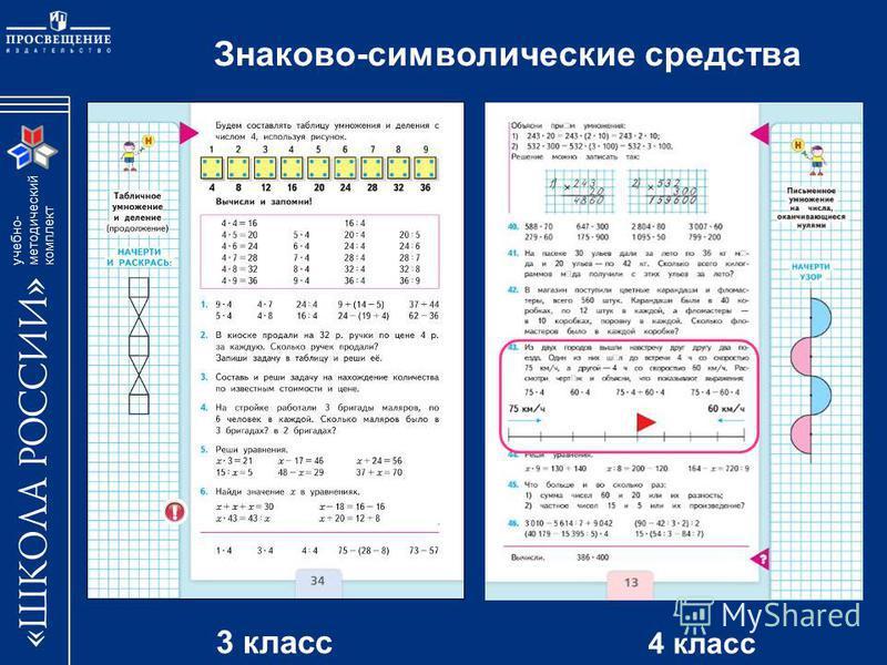 учебно- методический комплект Знаково-символические средства 3 класс 4 класс