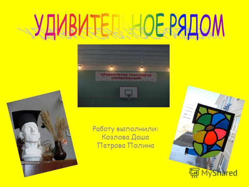 Работу выполнили: Козлова Даша Петрова Полина