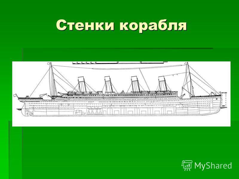 Стенки корабля