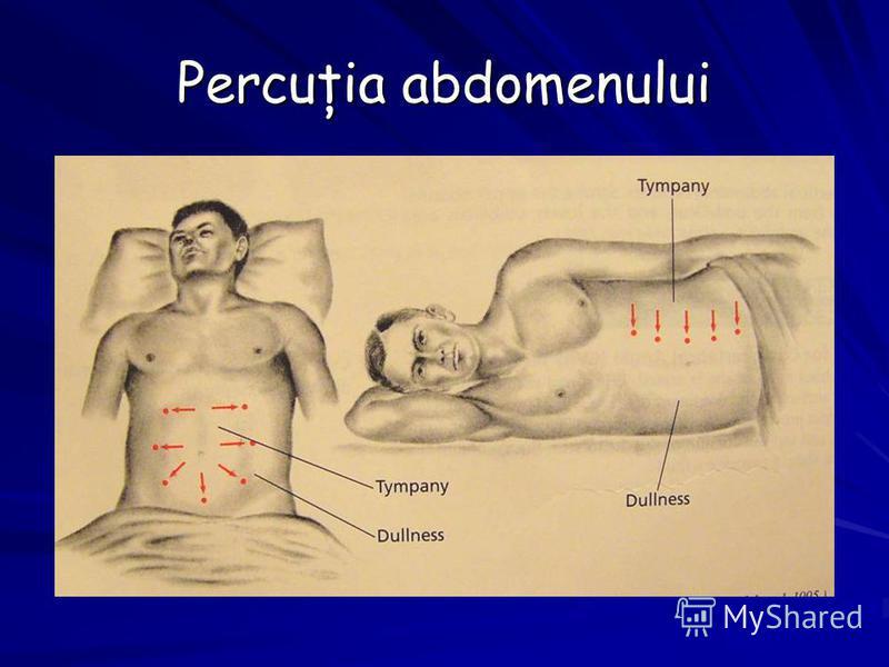 Percuţia abdomenului