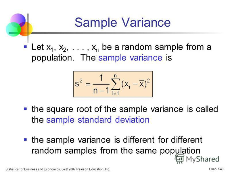 Sample Variance The Sample Variance Chistine Crisp Edited By Dr