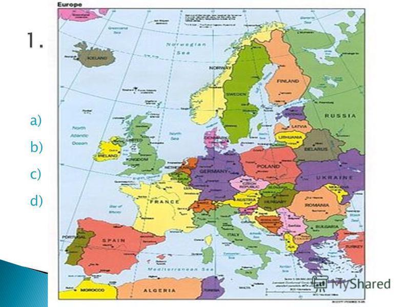 a) Europe b) Africa c) America d) Asia