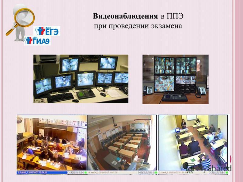 Видеонаблюдения в ППЭ при проведении экзамена
