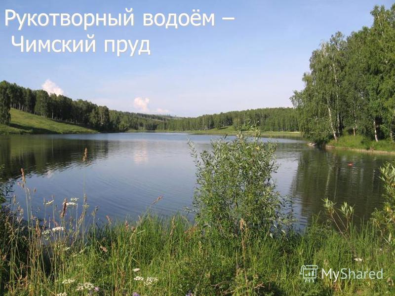 Рукотворный водоём – Чимский пруд