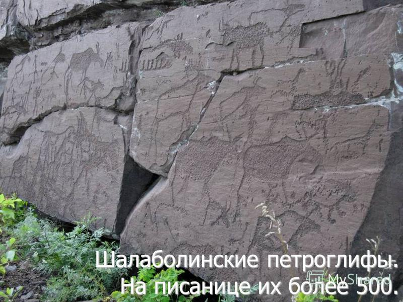 Шалаболинские петроглифы. На писанице их более 500.