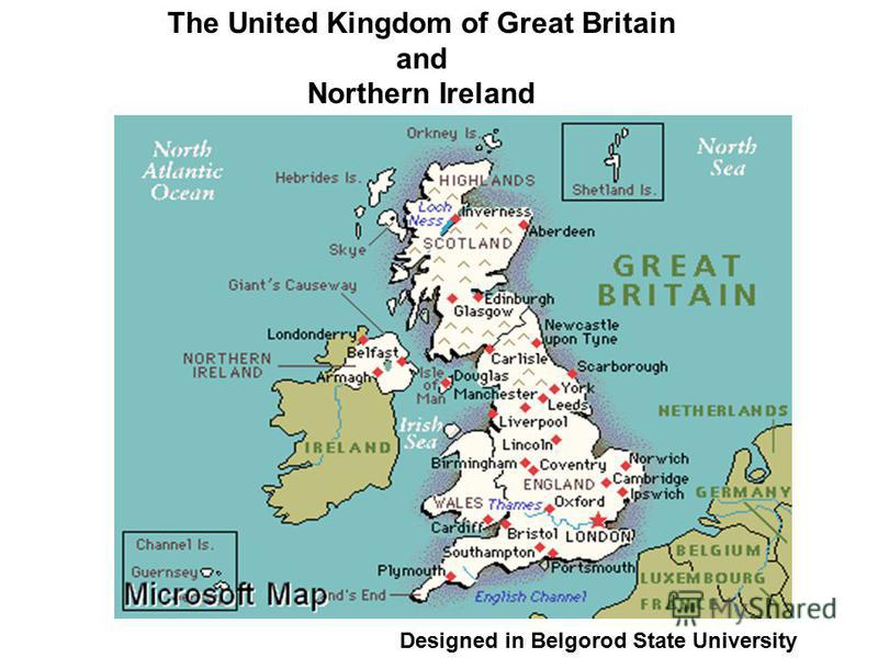 The United Kingdom of Great Britain and Northern Ireland Designed in Belgorod State University