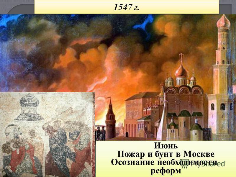 Июнь Пожар и бунт в Москве Осознание необходимости реформ Июнь Пожар и бунт в Москве Осознание необходимости реформ