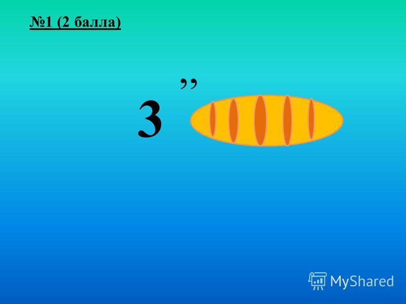 1 (2 балла),, 3