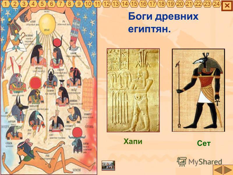 Боги древних египтян. 325467891011121314151617181920212322241 Сет Хапи