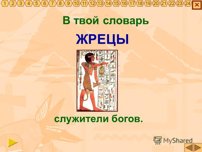В твой словарь ЖРЕЦЫ служители богов. 325467891011121314151617181920212322241