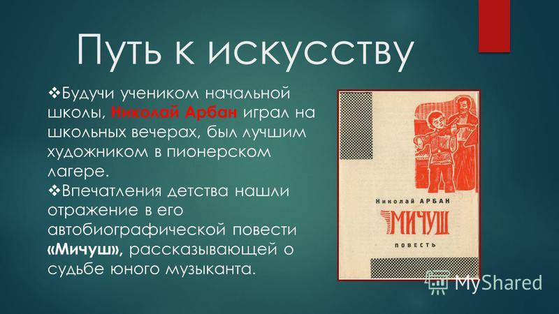 Малая Родина Николай Арбан (Деревяшкин Николай Михайлович) родился 30 ноября 1912 года в деревне Арбаны (Арбан) ныне Медведевского района РМЭ в бедной крестьянской семье.деревне Арбаны