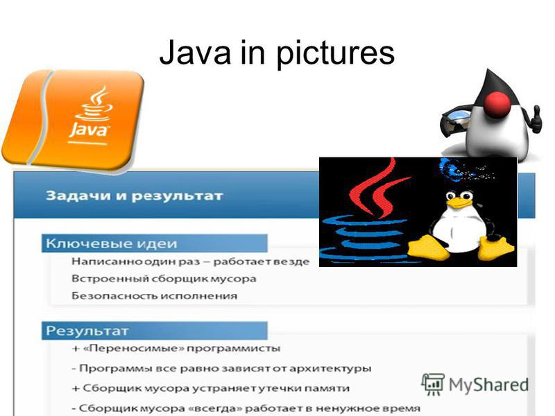 Java in pictures
