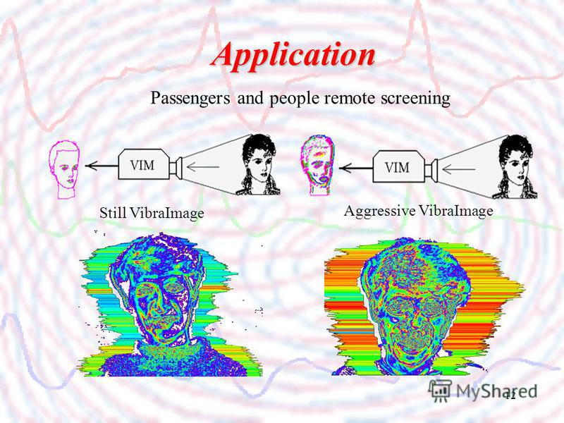 12 Passengers and people remote screening Application Still VibraImage Aggressive VibraImage