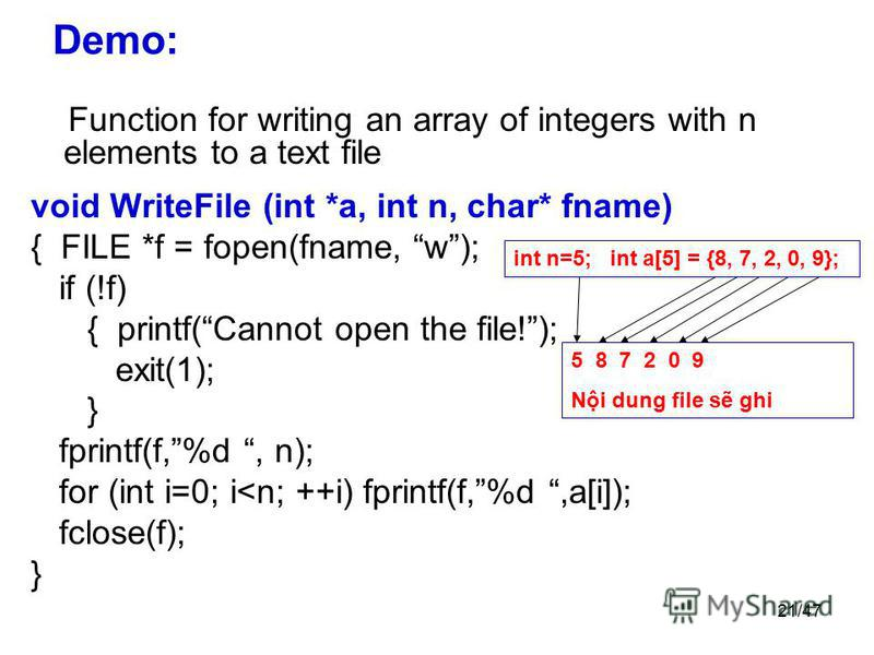 fprintf write array c++