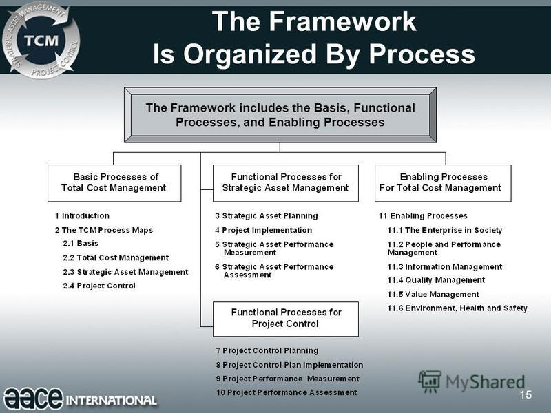15 The Framework Is Organized By Process The Framework includes the Basis, Functional Processes, and Enabling Processes