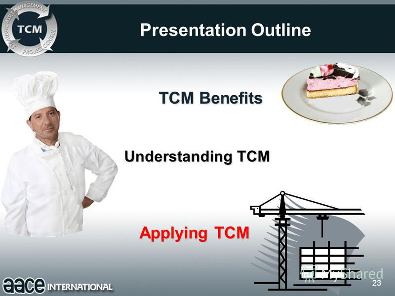 23 Presentation Outline Understanding TCM Applying TCM TCM Benefits