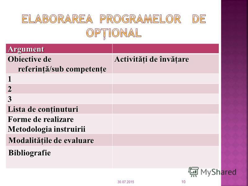 Opţionalul la nivelul disciplinei 1 Opţionalul la nivelul disciplinei consta fie în activit ă ţi, module, proiecte care nu sunt incluse in programa şcolar ă avansat ă de autoritatea centrala, fie dintr-o disciplina care nu este prevazuta in planul-ca