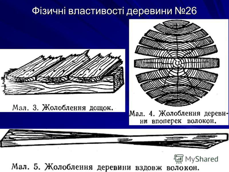 Фізичні властивості деревини 26