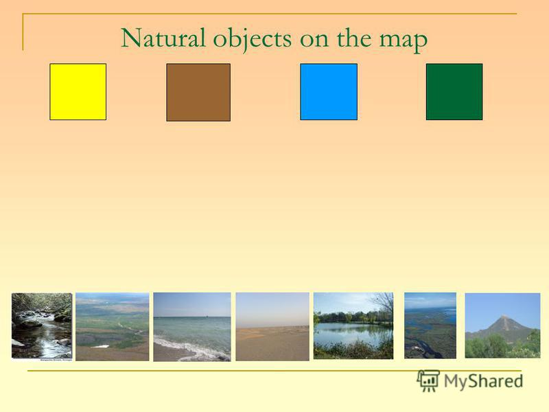 Natural objects on the map