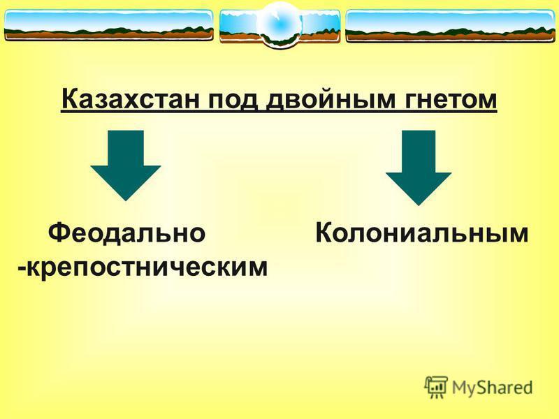 Казахстан под двойным гнетом Феодально Колониальным -крепостническим