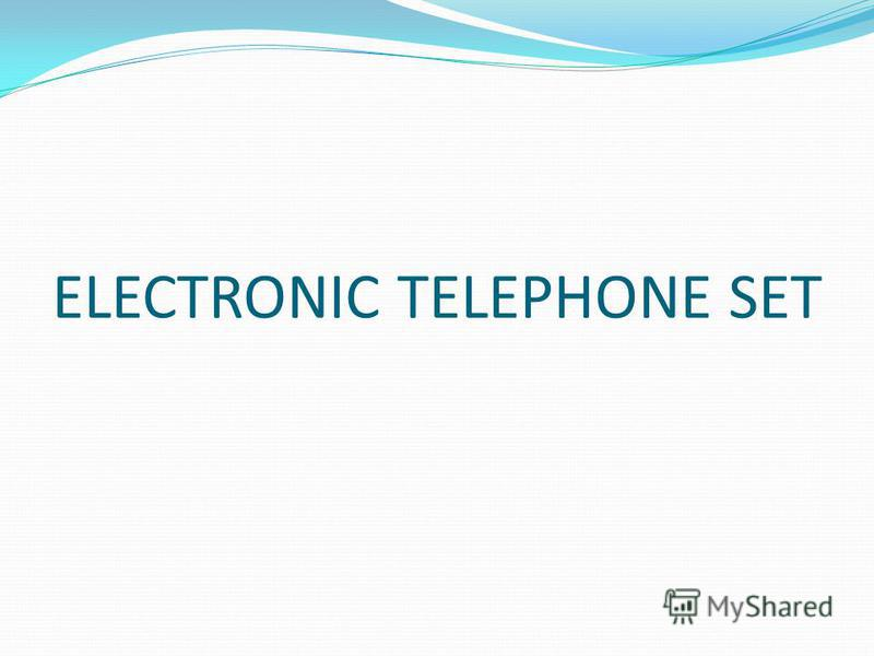 ELECTRONIC TELEPHONE SET