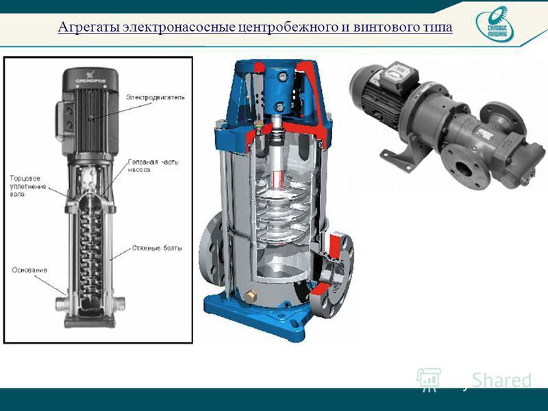 Агрегаты электронасосные центробежного и винтового типа