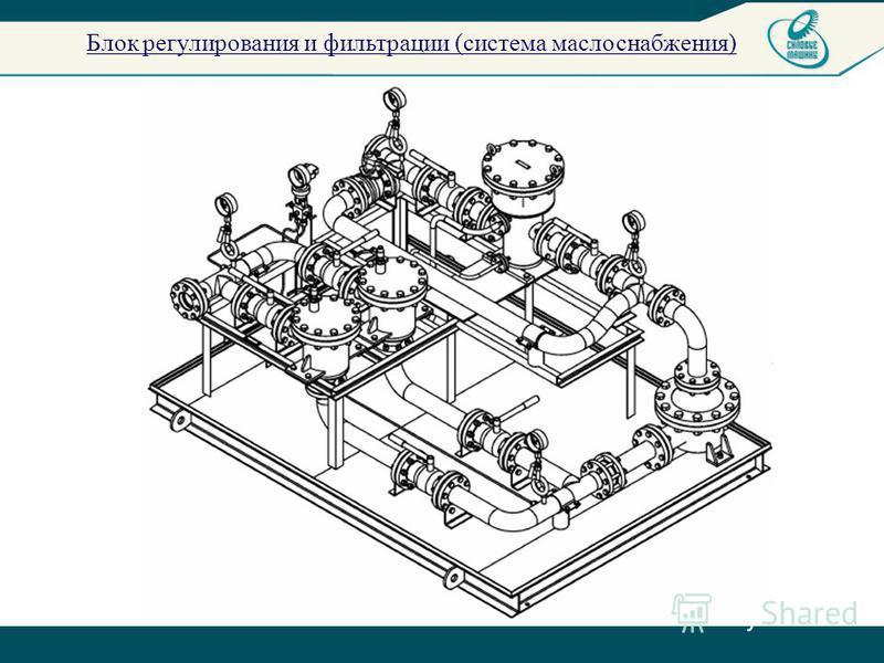 Блок регулирования и фильтрации (система маслоснабжения)