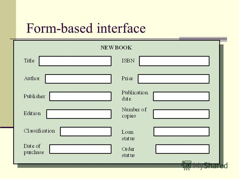 79 Form-based interface